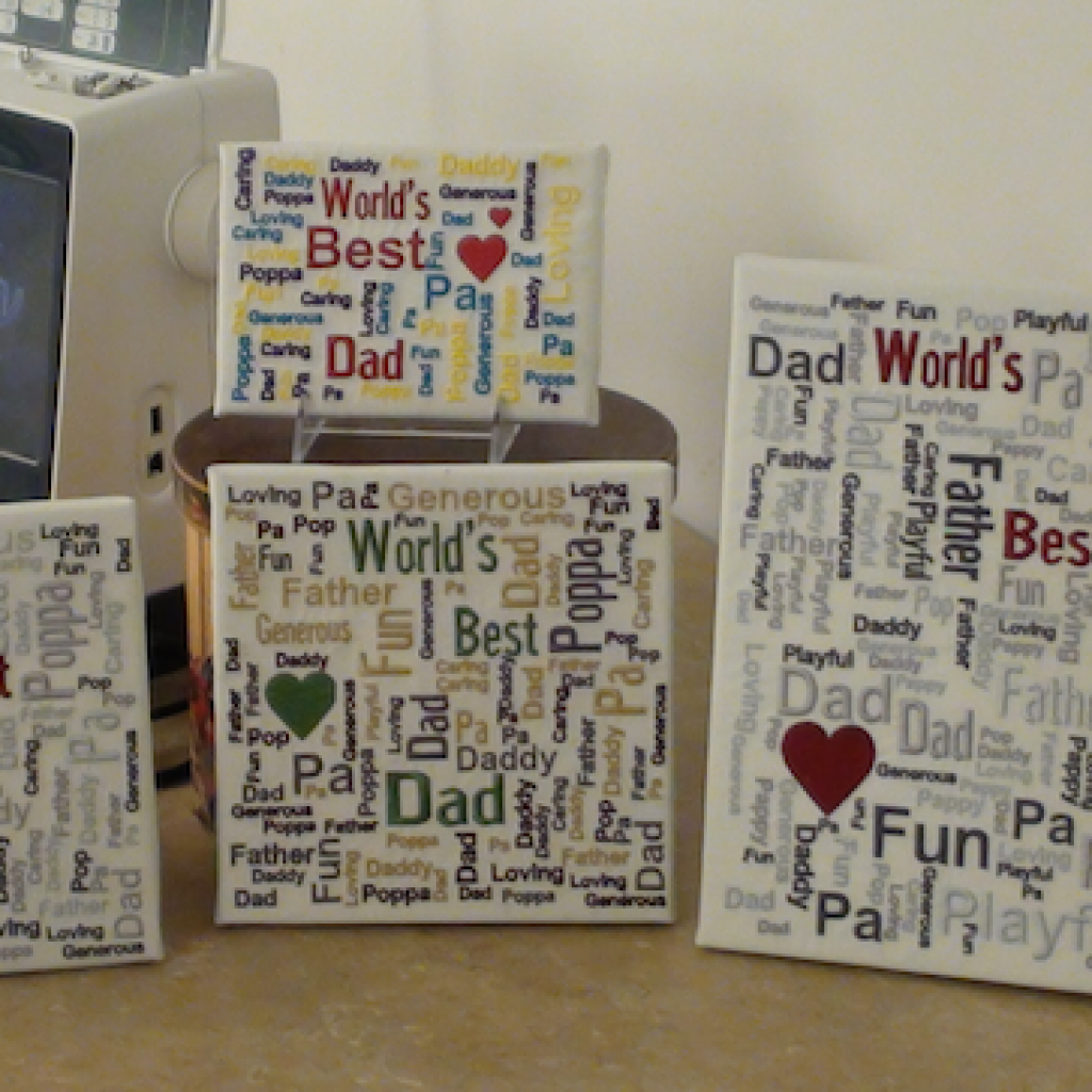 Product: Online Class-Worlds Best Dad Canvas Wall Hanging