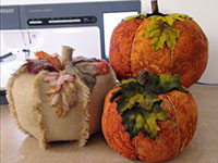 Product: Designer Fabric Pumpkins