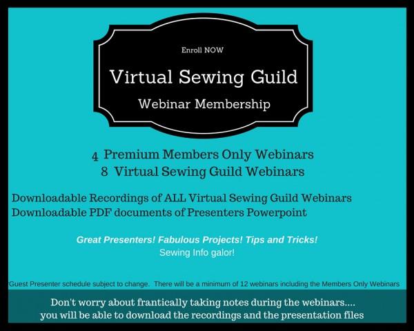 2016 Virtual Sewing Guild Webinar Membership