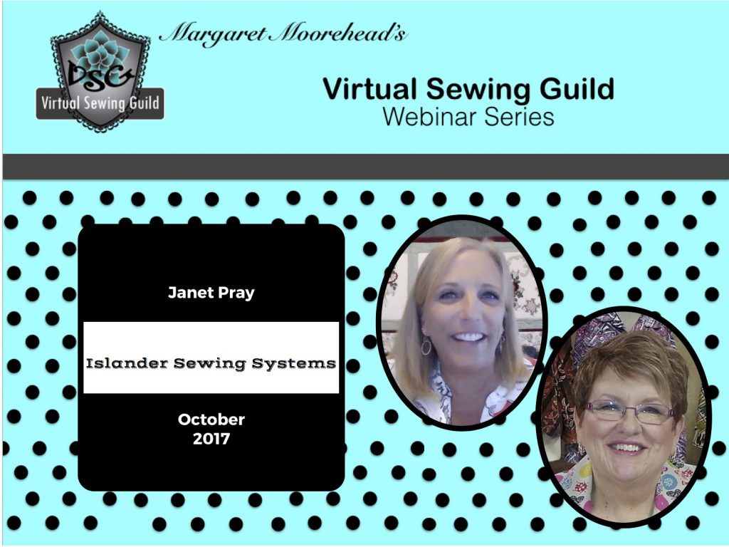Product: Webinar Recording, Islander Sewing Systems