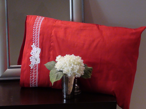 Product: Fancy Band Silk Pillowcase