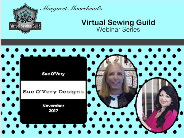 Product: Webinar Recording, Sue O'Very Designs