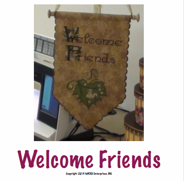 Product: Welcome Friends Banner