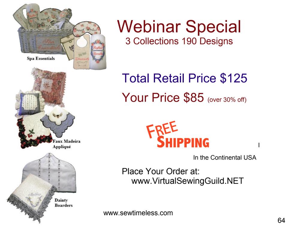 Sew Timeless Webinar Special