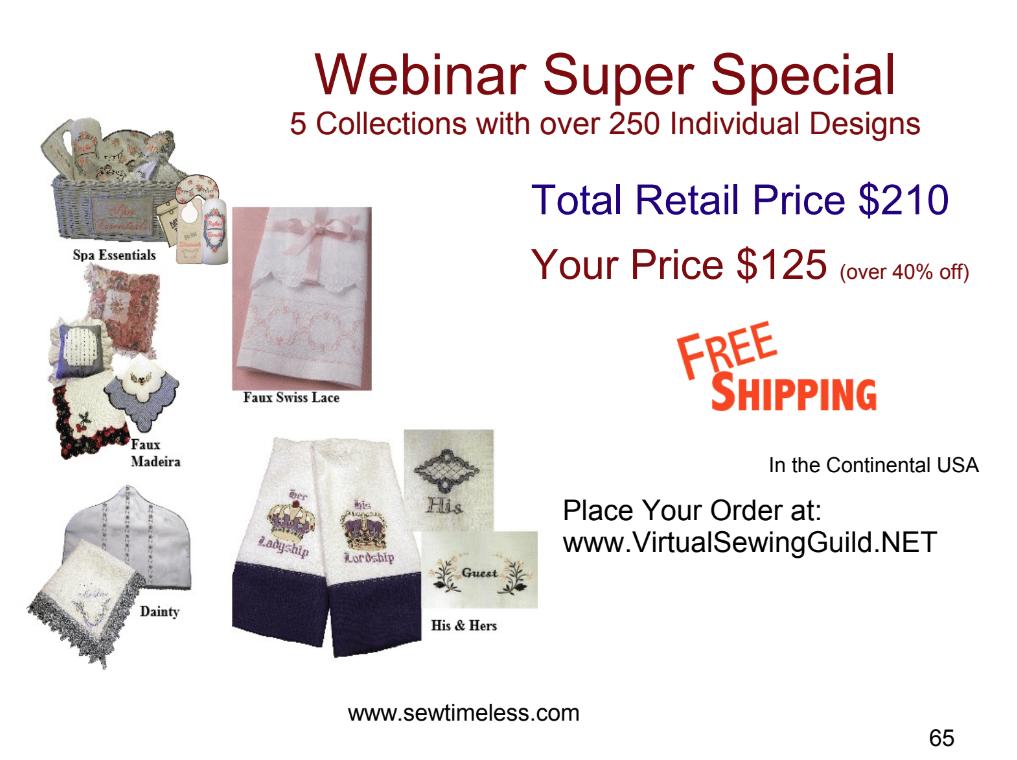 Sew Timeless Webinar Super Special